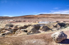 Geyser at the highlands. Geysers in the Andean highlands in Bolivia Royalty Free Stock Photo