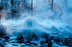 Geyser hot spring Stock Photo