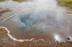 Geyser i Island Arkivfoton