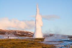 geyser iceland Royaltyfri Foto