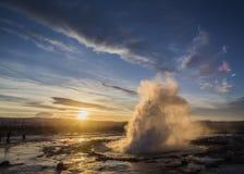 geyser iceland Arkivbild
