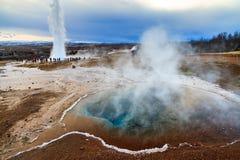Geyser Iceland stock photography