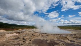 Geyser in Iceland Stock Image