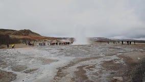 Geyser in Iceland stock video