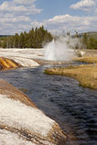 Geyser at Iron Creek at Black Sand Basin Royalty Free Stock Images