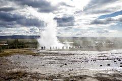 Geyser islandês Fotos de Stock Royalty Free