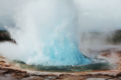 Geyser in Islanda Fotografia Stock Libera da Diritti