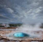Geyser in Islanda Immagini Stock Libere da Diritti