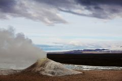 Geyser in Islanda Fotografie Stock Libere da Diritti