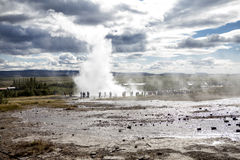 Geyser islandese fotografie stock libere da diritti