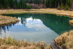 Geyser lake in Altai mountains Stock Images