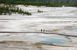 Geyser lake in yellowstone Stock Photo