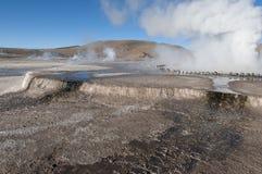 Geyser-landscape Royalty Free Stock Image