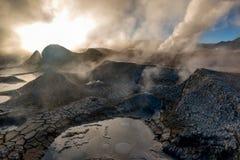 Geyser in natural reserveEduardo Avoroa, Bolivia Royalty Free Stock Image