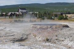 Geyser nel parco nazionale di Yellowstone, Wyoming, U.S.A. Fotografia Stock