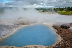 Geyser Park in Iceland Stock Photos