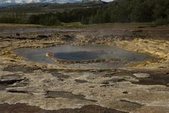 Geyser ready to erupt Royalty Free Stock Photo