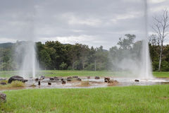 Geyser in San Kamphaeng; Thailand Royalty Free Stock Photos