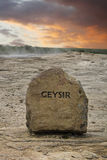 Geyser sign Iceland Stock Photography