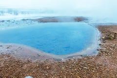 Geyser Strokkur στην Ισλανδία Στοκ εικόνα με δικαίωμα ελεύθερης χρήσης