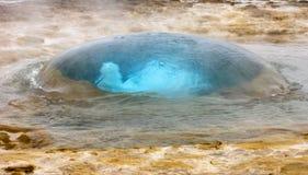 geyser strokkur Στοκ εικόνα με δικαίωμα ελεύθερης χρήσης