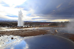Geyser Strokkur, Iceland Stock Photos
