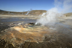Geyser Tatio in Atacama (Chile) Stock Images