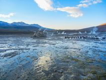 Geyser tatio EL τομέων κοντά σε SAN Pedro de atacama Χιλή Στοκ εικόνα με δικαίωμα ελεύθερης χρήσης
