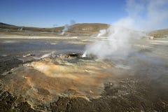 Geyser Tatio em Atacama (o Chile) Imagens de Stock