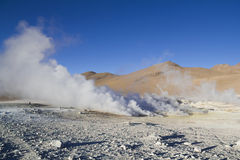 Geyser in Uyuni Stock Photos