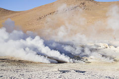 Geyser in Uyuni Stock Photo