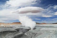 Geyser in Uyuni, Bolivia Stock Images