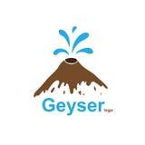 Geyser, vector logo Royalty Free Stock Photos