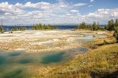 Geyser Yellowstone λεκάνη Στοκ εικόνα με δικαίωμα ελεύθερης χρήσης