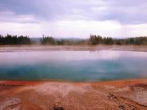 Geyser in Yellowstone Fotografia Stock Libera da Diritti