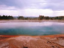 Geyser in Yellowstone Royalty Free Stock Photography