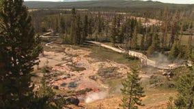 Geyser in Yellowstone. A geyser in Yellowstone National Park stock video footage