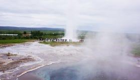 geysericeland strokkur Royaltyfri Bild