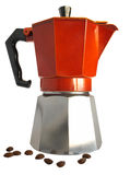 Geyserkaffebryggare Arkivfoto