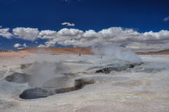 Geysers κολλοειδές διάλυμα Manana, Sur Lipez, νότια Βολιβία Στοκ Εικόνες