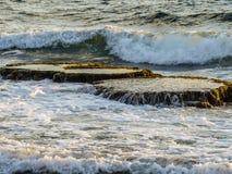 Geysers along Dado Zamir Beach Stock Photography
