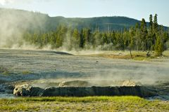 Geysers Basin Yellowstone Royalty Free Stock Photos
