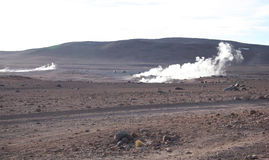 Geysers in Bolivia Stock Image