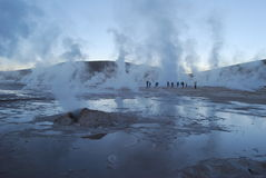 Geysers d'EL Tatio Photographie stock