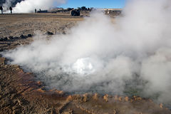 Geysers d'EL Tatio, Chili Photographie stock libre de droits
