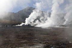 Geysers d'EL Tatio, Chili Images libres de droits