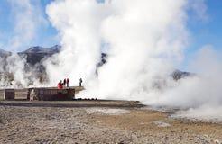 Geysers d'EL Tatio, Chili Image libre de droits