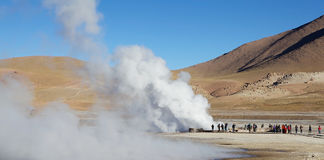 Geysers d'EL Tatio, Chili Image stock