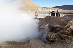 Geysers d'EL Tatio, Chili Photo libre de droits