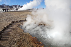 Geysers d'EL Tatio, Chili Photographie stock